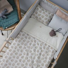 Camomile london is a British designer collection of contemporary, stylish nursery, children's and adults bedding and interiors. Baby Nook, Kids Bedroom, Bedroom Decor, Baby Bassinet, Kids Room Design, Good Night Sleep, Kids Furniture, London, Small Spaces