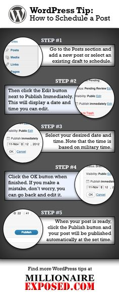 How To Schedule A Blog Post In #WordPress. #Infographic #Blogging