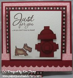 Paper Punch Addiction: Doggy fire hydrant sliding pop up