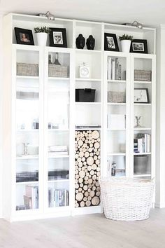 Ikea Billy Book Case- who knew it can look this good? IKEA Hacks is creative ins. Decor, Home Diy, Ikea Hack Living Room, Interior, Billy Bookcase, Home Decor, Ikea Billy Bookcase Hack, Ikea Billy Bookcase, Home Deco