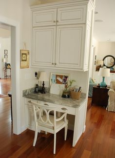 8 Ways to Work a Desk into the Kitchen