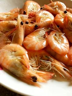 White Boiled Shrimps | Miss Chinese Food Chinese Cooking Wine, Chinese Food, Healthy Chinese Recipes, Food Print, Shrimp, Main Dishes, Seafood, Fresh, Eat