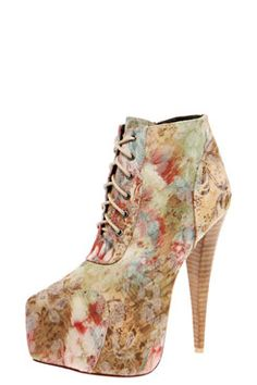 Carmel Lace Up Floral Over The Ankle Shoe Boot £30 >> http://www.boohoo.com/high-heels/carmel-lace-up-floral-over-the-ankle-shoe-boot/invt/azz54466