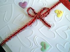 Candy Hearts Blank Note Cards Set of 5 Heart by AuriesDesigns, $7.00
