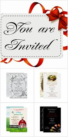 Special Occasion / Holiday Invitations