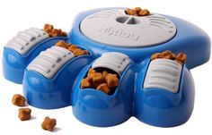 $26.95-$29.99 Aikiou Interactive Dog Feeder Blue - The Aikiou has compartments in which you can hide different types of food. This will keep your animal busy during mealtimes, turning the wheel and opening the sliding doors to access the food. This system adds brain stimulating component to feeding, slowing down the rate at which food is ingested and thus reducing digestion problems. Making mealt ...