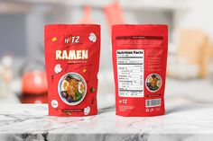 Packaging Template – Instant Spicy Ramen, can easy to use for your product or brand packaging. This template is fully editable and customizable in Adobe illustrator and Adobe Photoshop. Pouch Packaging, Brand Packaging, Packaging Snack, Print Templates, Design Templates, Psd Templates, Food Packaging Design, Modern Logo, Food Design
