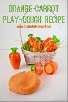 Play-dough Recipe at thatswhatchesaid.net.  Perfect for a non-candy Easter Basket Stuffer! #easter #playdoh #playdough