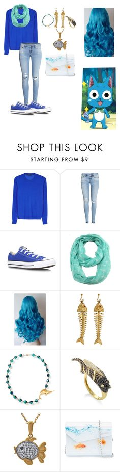 """""""Fairy Tail Happy"""" by parsonalexia ❤ liked on Polyvore featuring Paul Smith Black Label, H&M, Converse, ModestlyChic Apparel, Tiffany & Co., French Collection and Jimmy Choo"""