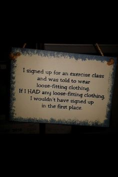 Exercise class     #funny-stuff