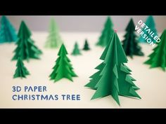 How to Make 3D Paper Christmas Tree - All steps - DIY & Crafts - Handimania
