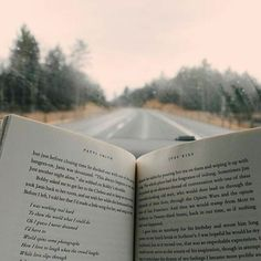 Reading on the road.