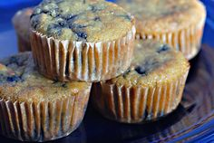 Paleo Blueberry Muffins   ½ cup coconut flour, sifted  ½ teaspoon celtic sea salt  ½ teaspoon baking soda  6 eggs  ⅓ cup agave nectar  ⅓ cup grapeseed oil  1 tablespoon vanilla extract  1 cup blueberries, fresh or frozen