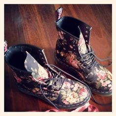 I have always wanted a pair of Doc Martins. I even like these floral ones. They are interesting.