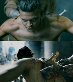 """Ivar getting his tattoo • #vikings5"" - Alex Høgh Anderson as Ivar the Boneless in VIKINGS S5"