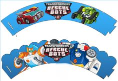 Transformers Rescue Bots Free Printable Cupcake Wrappers.