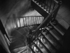 Hitchcock had a thing for stairs. The Man Who Knew Too Much Who Knows, Alfred Hitchcock, The Man, Cinema, Stairs, Free, Police Officer, Film Noir, Movies