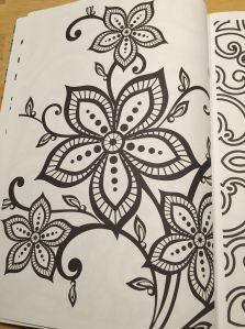Buy Hang Qiao Secret Garden Flowers Monogatari Coloring Book Black