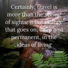 """""""Certainly travel is more than the seeing of sights; it is a change that goes on deep and permanent in the ideas of living"""" Register NOW at http://ift.tt/1pe1GGR or click on the link in our bio for our FREE eBook on how to take better travel pics on your next holiday. Get your free eBook and cheat sheets today. Photo by @johnlechnerart #wanderlust #travelpics #travel"""