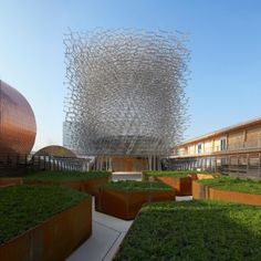 First images of the UK's beehive-inspired  Milan Expo pavilion released