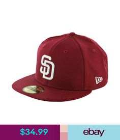 Hats Era 59Fifty San Diego Padres Fitted Hat (Cardinal/White) Men's Mlb Cap #ebay #Fashion