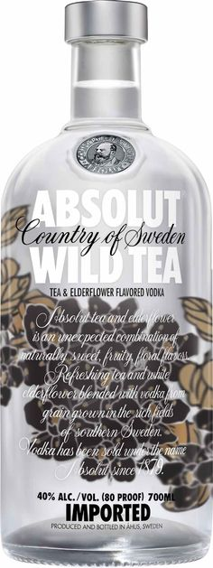 Absolut Vodka Wild Tea  Absolutly delicious! Add unsweet tea and lemon juice on crushed ice OMG!