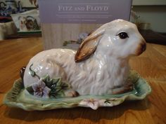 Fitz and Floyd Fattoria Rabbit Covered Dish New in Box