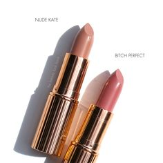 The Beauty Look Book: Charlotte Tilbury Neutral Nude/Pink Lip Picks   Nude Kate, Bitch Perfect, Blondie, Sweet Stiletto, Iconic Nude and Pink Venus