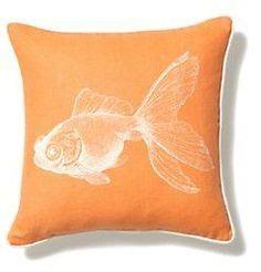 Goldfish Pillow at Anthropologie
