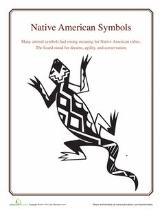 Worksheets: Native American Symbols: Lizard