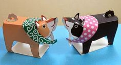 Shiba Inu Japanese Classic Dog Breed Paper Model - by Natsu - == -  By Japanese designer Natsu, from Papercraft Zoo website, here is a beautiful and easy-to-build Shiba Inu paper toy.