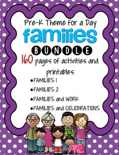 Families Themes Bundle for preschool and pre-K.  Includes 4 units.Picture