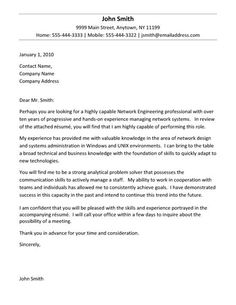 Executive Cover Letter Example  Cover Letter Example Letter