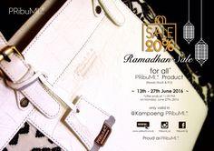"""""""PRibuMI...® Ramadhan Sale"""" Please contact via: WA : 082213355211 LINE : @pribumi / pribumi_id PIN BB : 5ABCD17C Email : order@pribumi.co.id www.pribumi.co.id"""