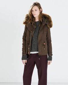 Zara Cotton Parka with fur hood