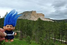 Lil Dude Troll at the Crazy Horse Memorial in South Dakota.