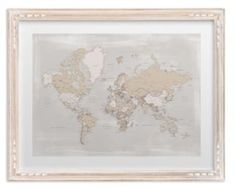 Lets get lost green world map watercolor with cities rustic frame rustic distressed detailed world map with cities whitewashed french farm frame gumiabroncs Choice Image