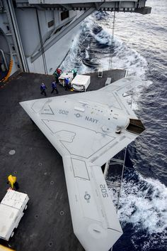 The future is now . X47B  The first unmanned fighter jet able to take off from a US NAVY carrier.