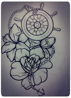 traditional nautical flash | Tattoo Torch Kyle Crowell Traditional Ships Wheel Helm