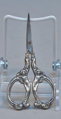 German Sterling Silver Scissors w/ Germany Hallmark - VCA #481 http://www.vcaauction.com/catalog.php