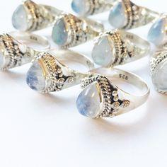 Moon Spell - Rainbow Moonstone & Sterling Silver Ring – Druzy Dreams