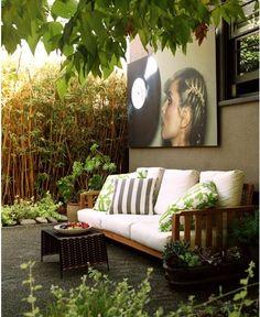 Art in the outdoor space.