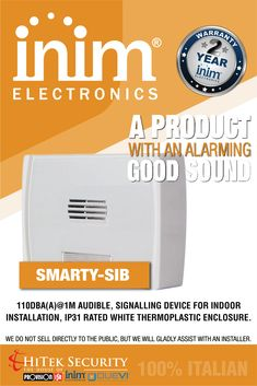 HiTek Security is the House of Provision-ISR, INIM Electronics & Duevi and the sole distributor in South Africa. Home Automation, CCTV, Outdoor & Indoor Detection, Security Sounds Good, Home Automation, Specs, The 100, Italy, Popular, Electronics, Business, Products