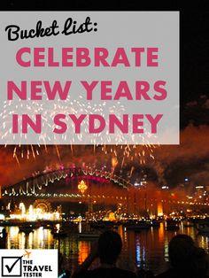 Bucket List - Celebrate New Years in Sydney