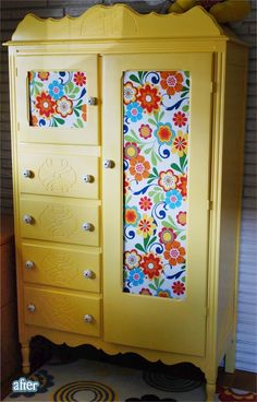Pretty pretty pretty! Paint job and covering glass with fabric
