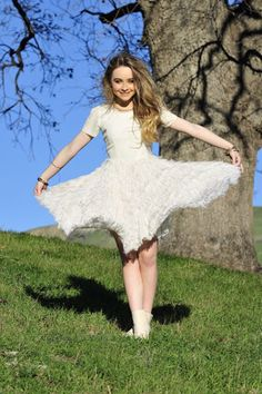 Sabrina Carpenter~ One of my favorite dresses. Wish I had one just like it, she wears this in her music video for We'll Be The Stars, one of my favorite songs.