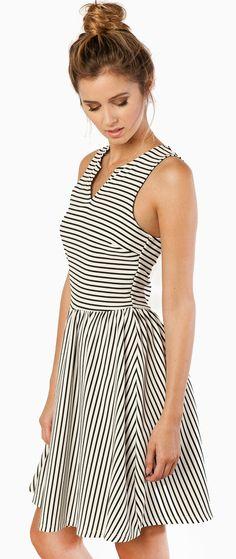 Stripes circle dress