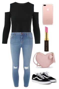 """""""Black and pink"""" by andreaisastar on Polyvore featuring Dorothy Perkins and Kevyn Aucoin"""