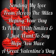 Sending My Love On Valentine's Day
