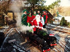 Eastbourne Miniature Steam Railway SANTA SPECIALS. Saturday 20 & Sunday 21 December 11am - 4pm. Train journey to Santa's Grotto where children receive a present from Santa and adults enjoy a festive drink and mince pie! Adult £6.75, Child £6.25, Under 3's £3.25.
